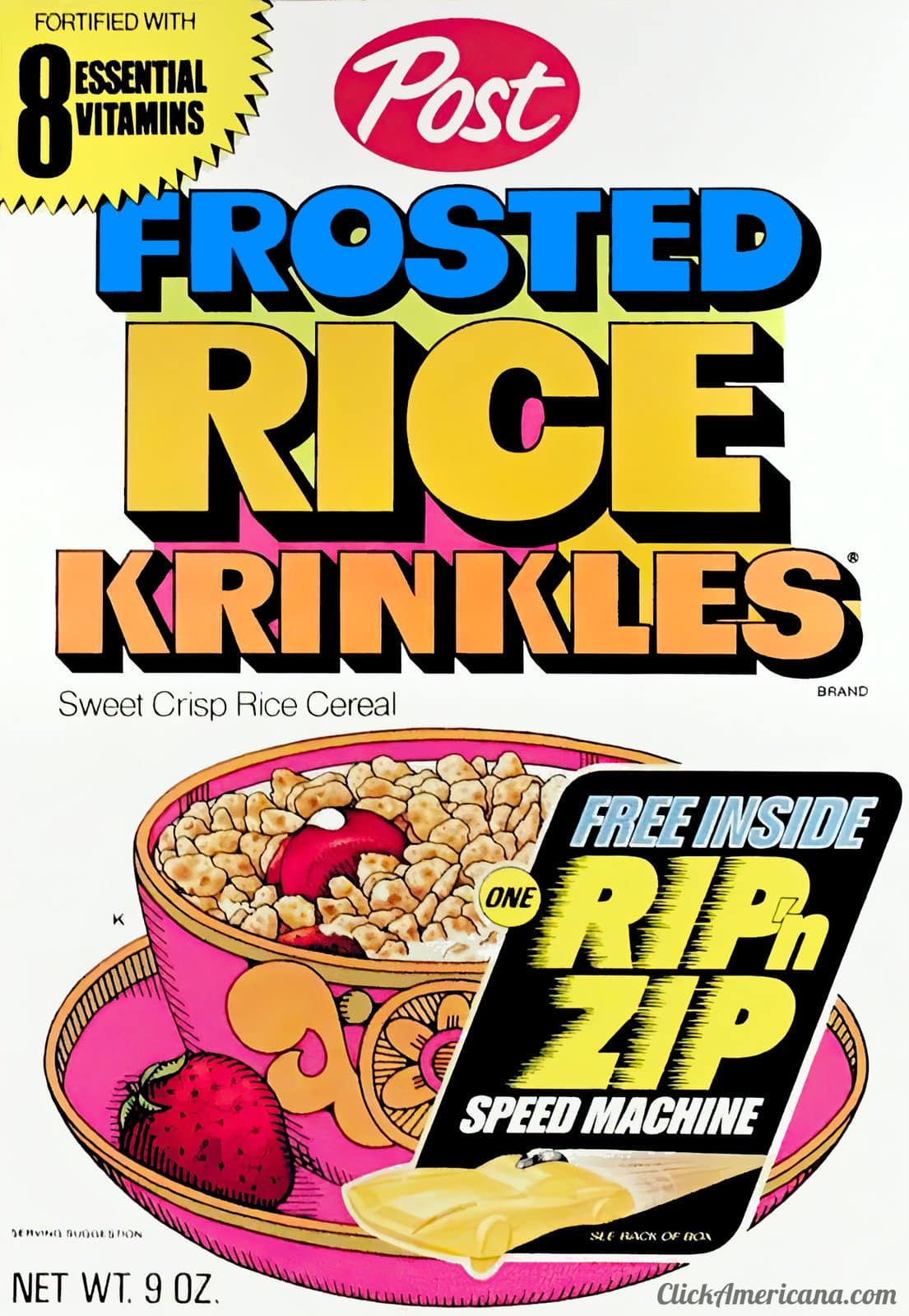 Vintage Post Frosted Rice Krinkles cereal (1970s)