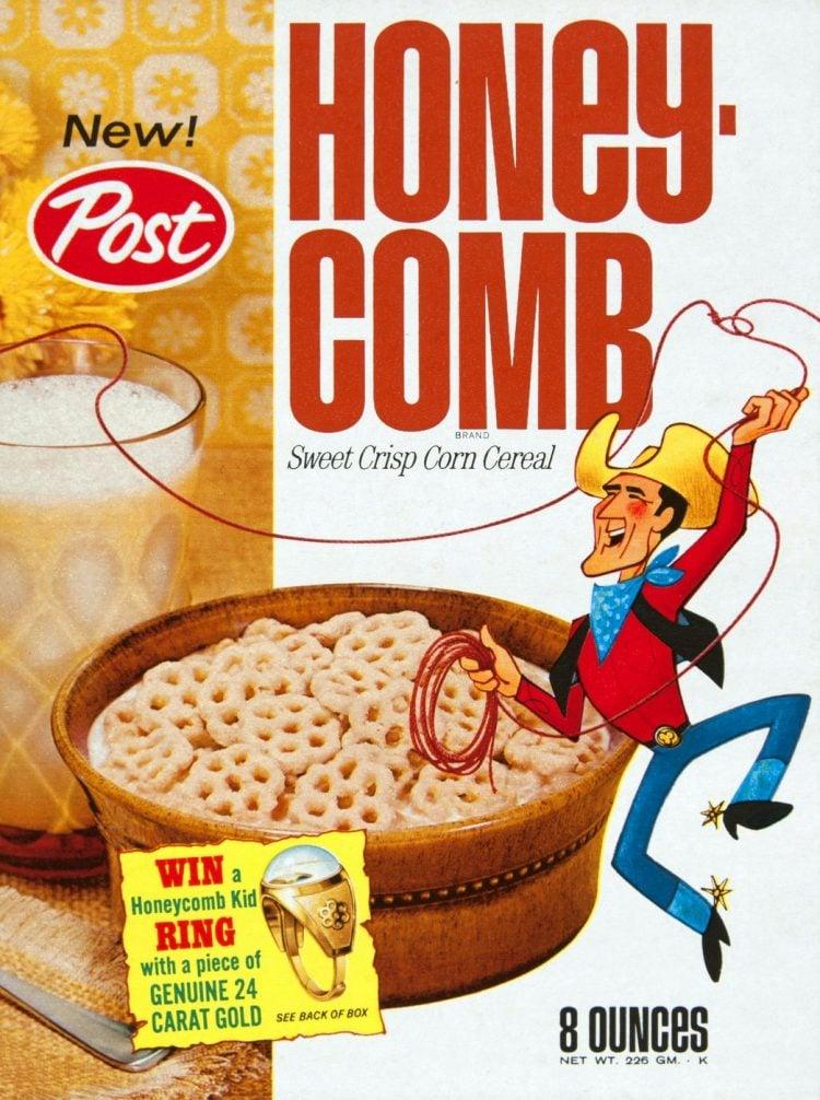 Vintage Post Honey Comb cereal 1967