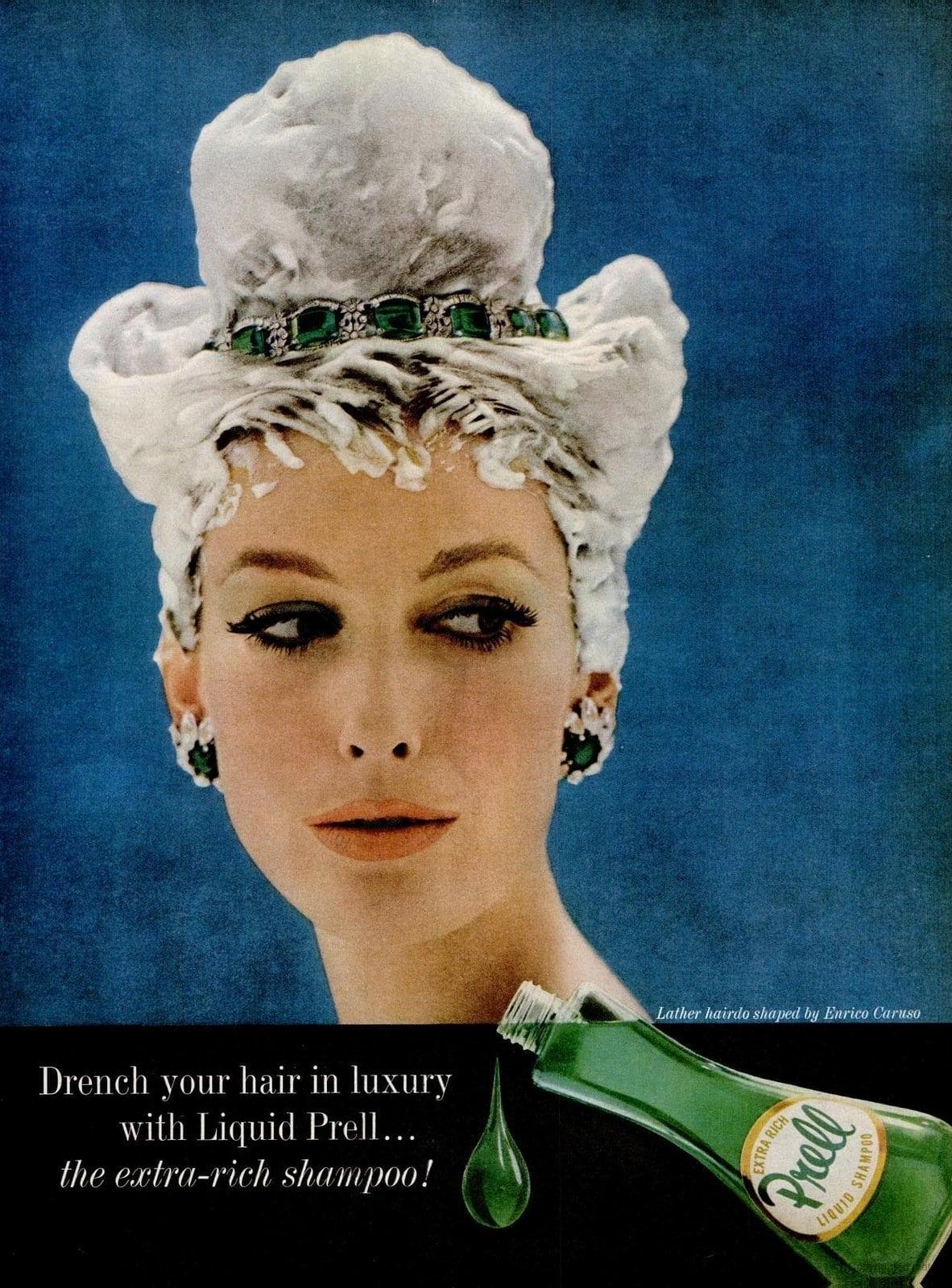 Vintage Prell shampoo ad - 1960s