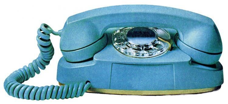 Vintage Princess telephone in blue