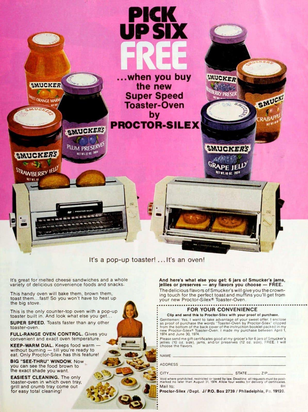 Vintage Proctor-Silex Super Speed toaster ovens (1974)