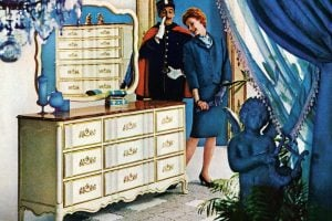 Vintage Provenceaux bedroom furniture from Bassett