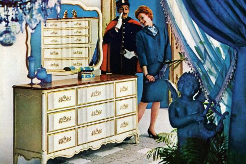 Vintage Provenceaux bedroom furniture from Bassett