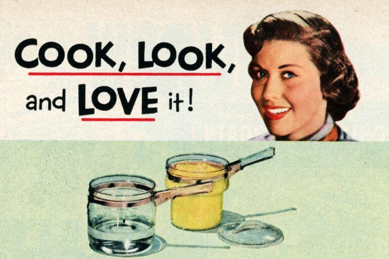 Vintage Pyrex ad - Cook look and love it - 1950 (2)