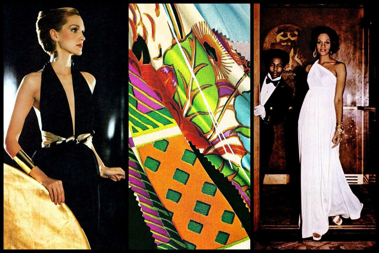 Vintage Qiana fashions from the 1970s