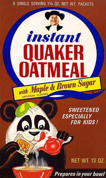 Vintage Quaker Instant Oatmeal box - Maple 1969