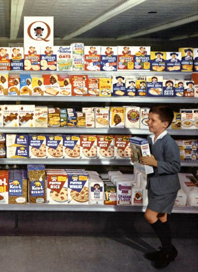 Vintage Quaker Oats cereals available in 1960