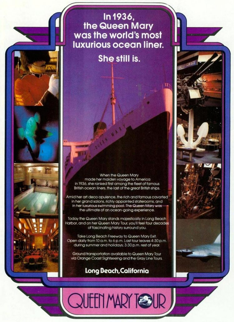 Vintage Queen Mary Tour - Travel from 1978