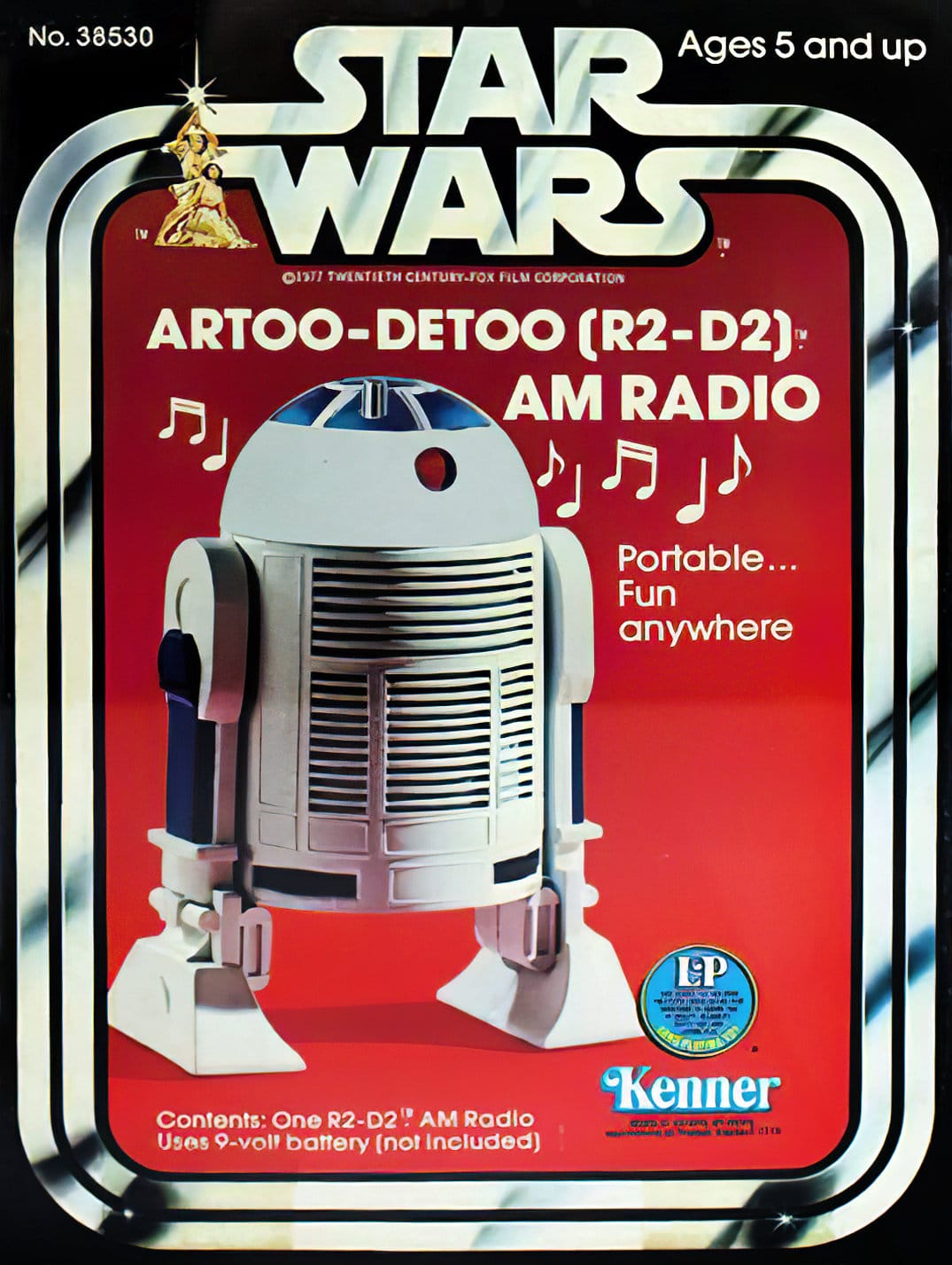 Vintage R2-D2 Star Wars portable AM radio (1977)
