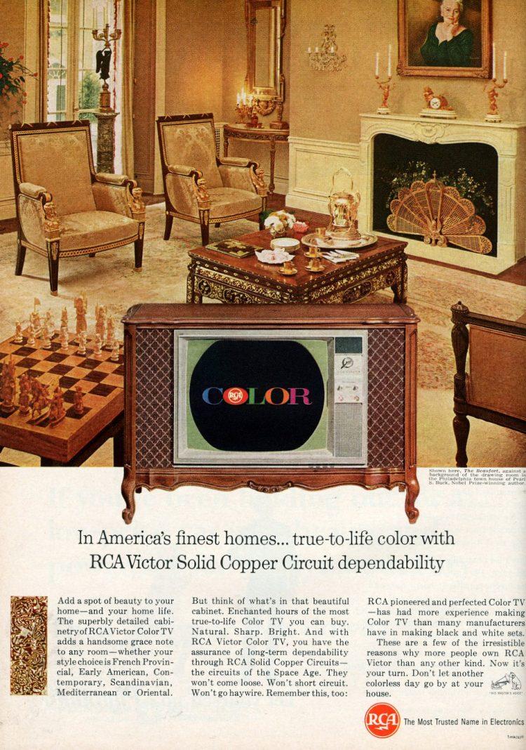 Vintage RCA Victor color television 1965