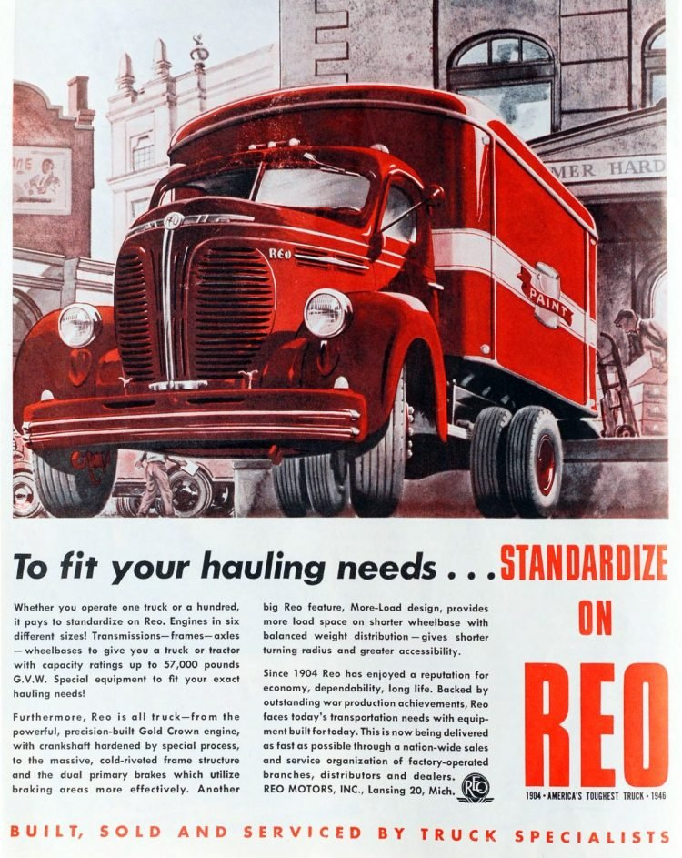 Vintage REO trucks from the 1930s (1)