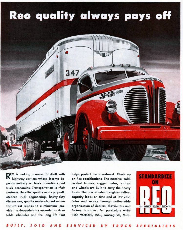 Vintage REO trucks from the 1930s (3)