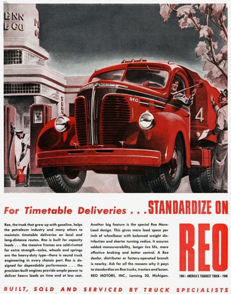 Vintage REO trucks from the 1930s (4)