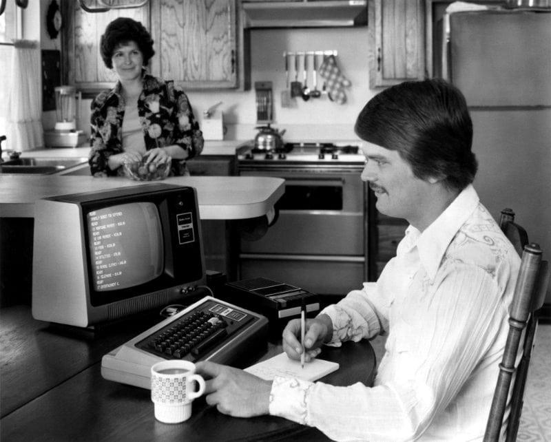 Vintage Radio Shack TRS 80 computer (1970s)