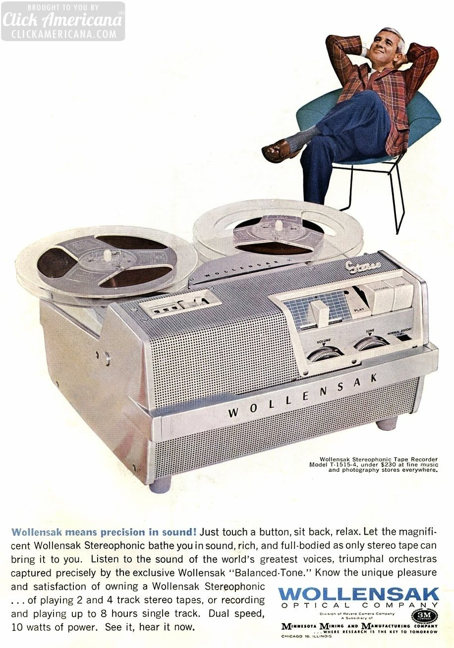 Vintage Wollensak Tape Recorder 1964