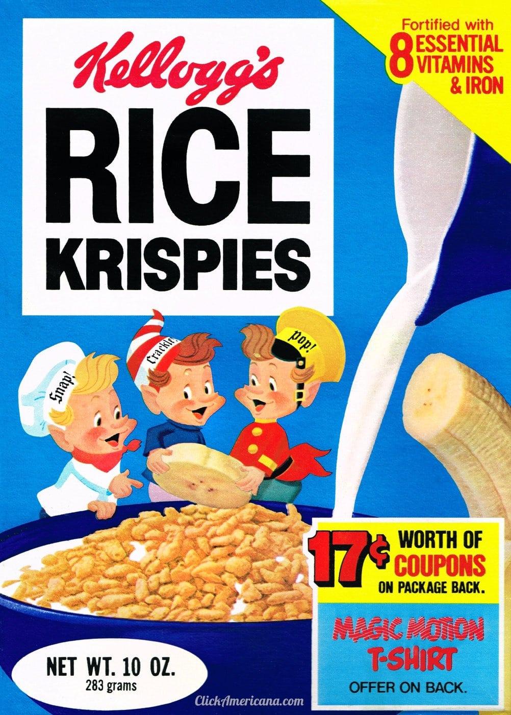 Vintage Rice Krispies box 1979