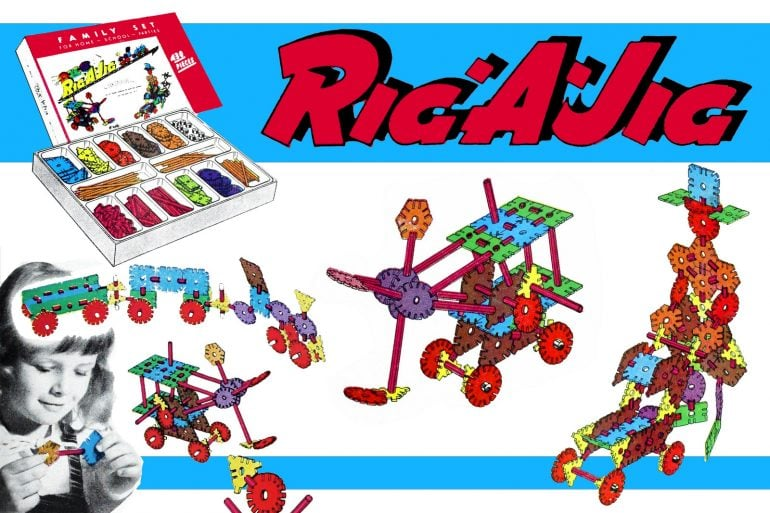 Vintage Rig-A-Jig toys from the 1950s