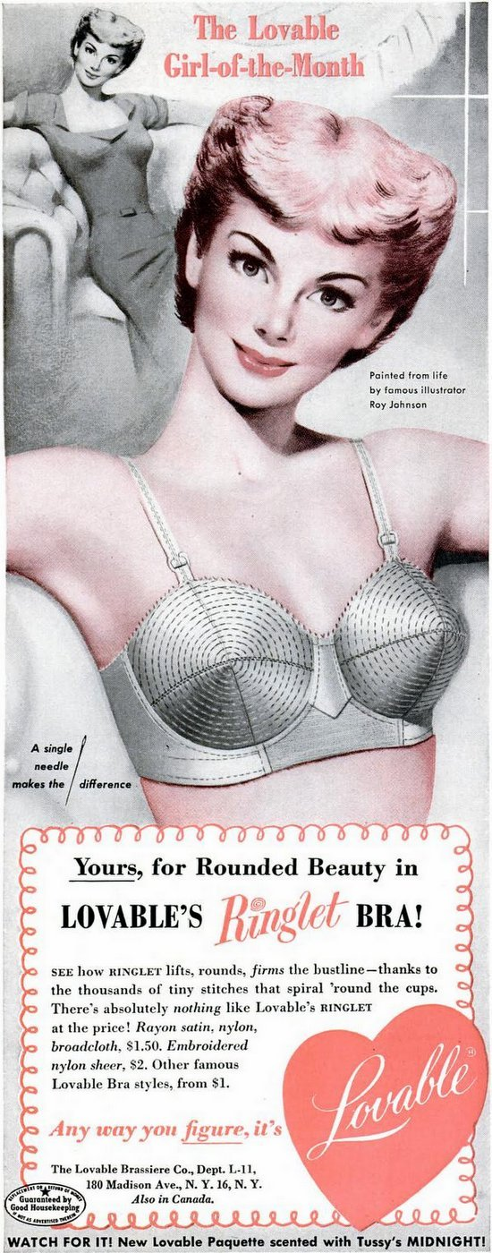 Vintage Ringlet bras from 1951
