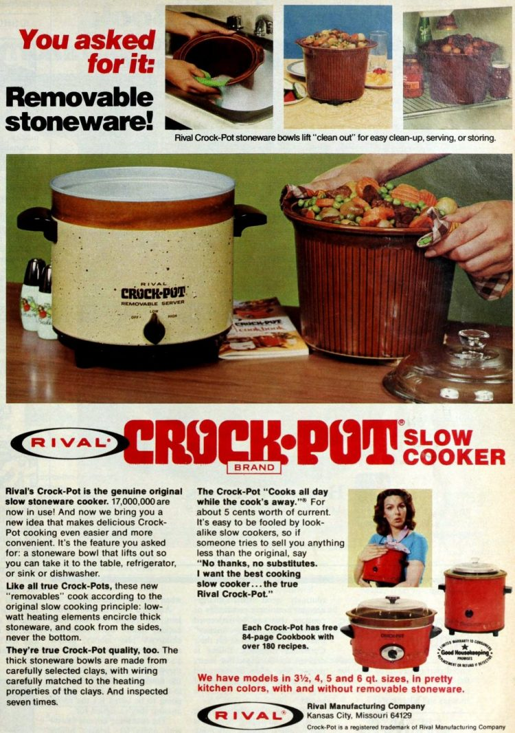Vintage Rival Crock Pot from 1976 (1)