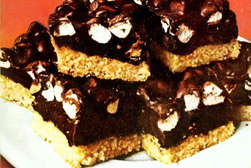 Vintage Rocky Road bar cookies recipe (1)