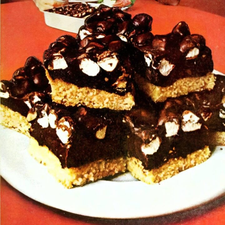 Vintage Rocky Road bar cookies recipe (1)