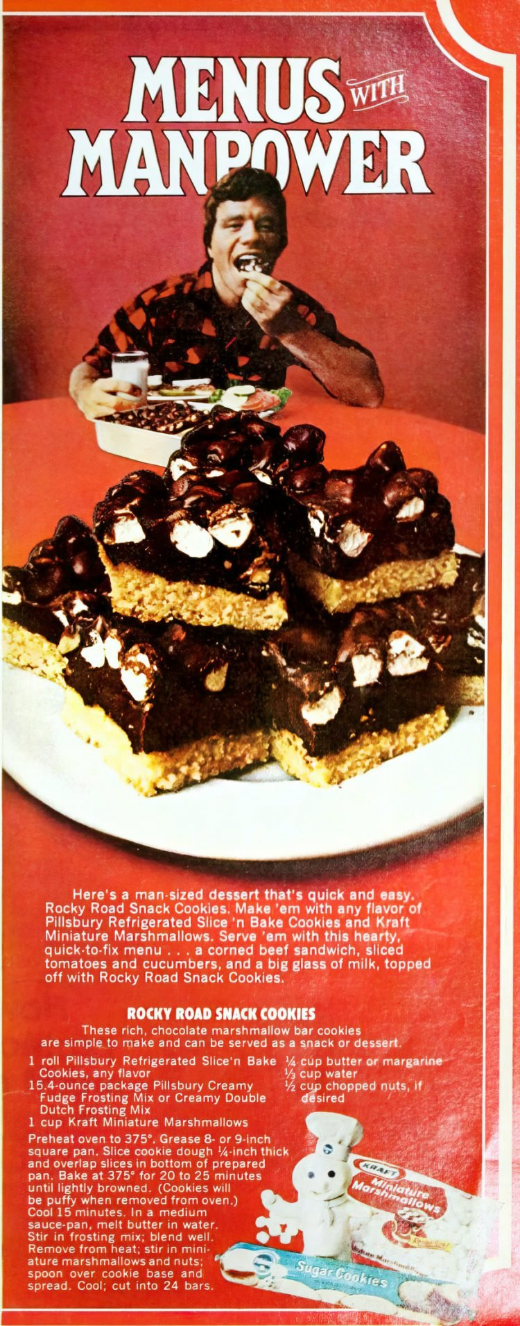 Vintage Rocky Road bar cookies recipe (3)