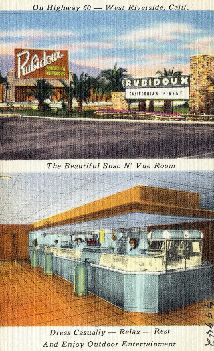 Rubidoux Drive-In Theatre, On Highway 60 -- West Riverside, Calif.