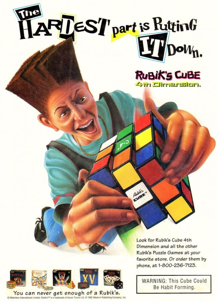 Vintage Rubik's Cube ad from 1992