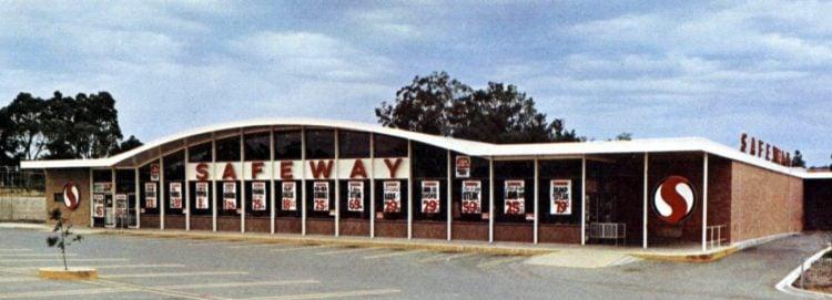 Vintage Safeway store in 1968