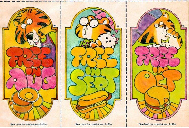 Vintage Sambo's kids' menu coupons 1970s
