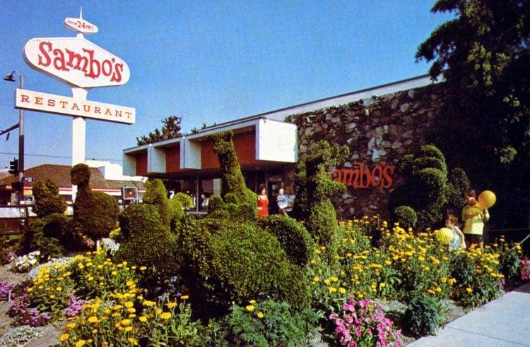 Vintage Sambo's restaurant postcard - 1970s