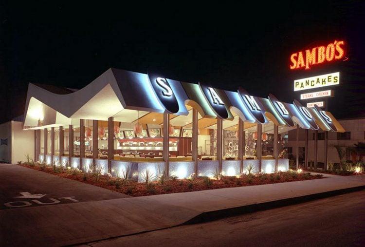 Vintage Sambo's restaurant postcard