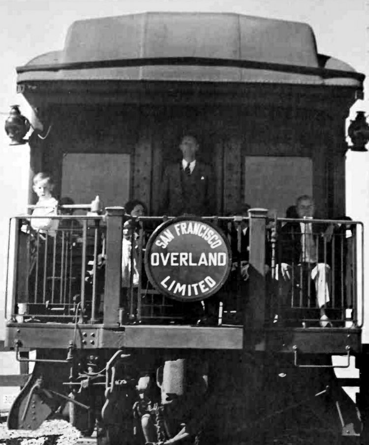 Vintage San Francisco Overland Limited train
