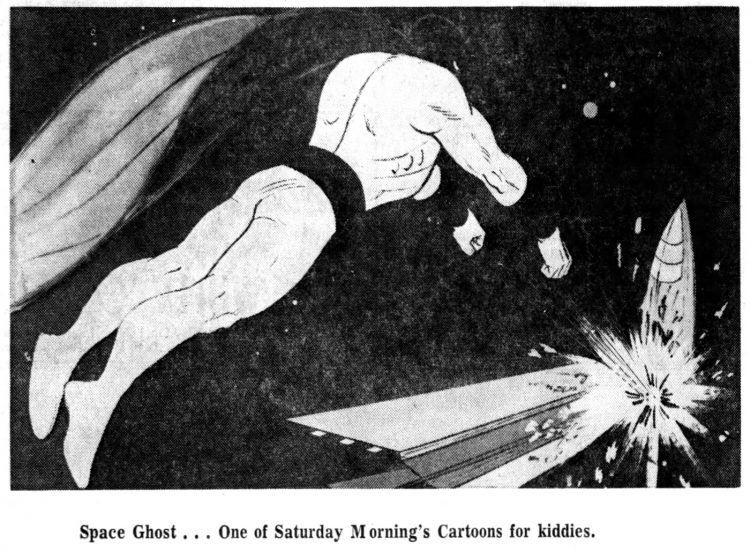 Vintage Saturday morning cartoons from 1968 - Space Ghost
