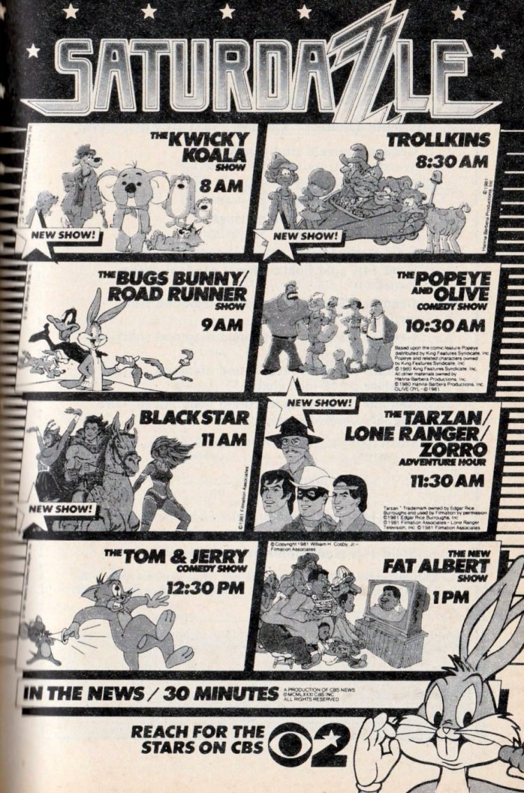 Vintage Saturday morning cartoons from 1981 (1)