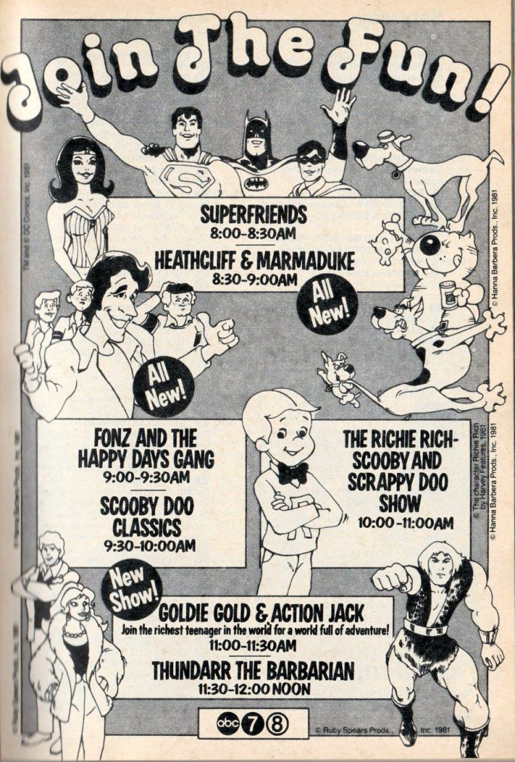 Vintage Saturday morning cartoons from 1981 (2)