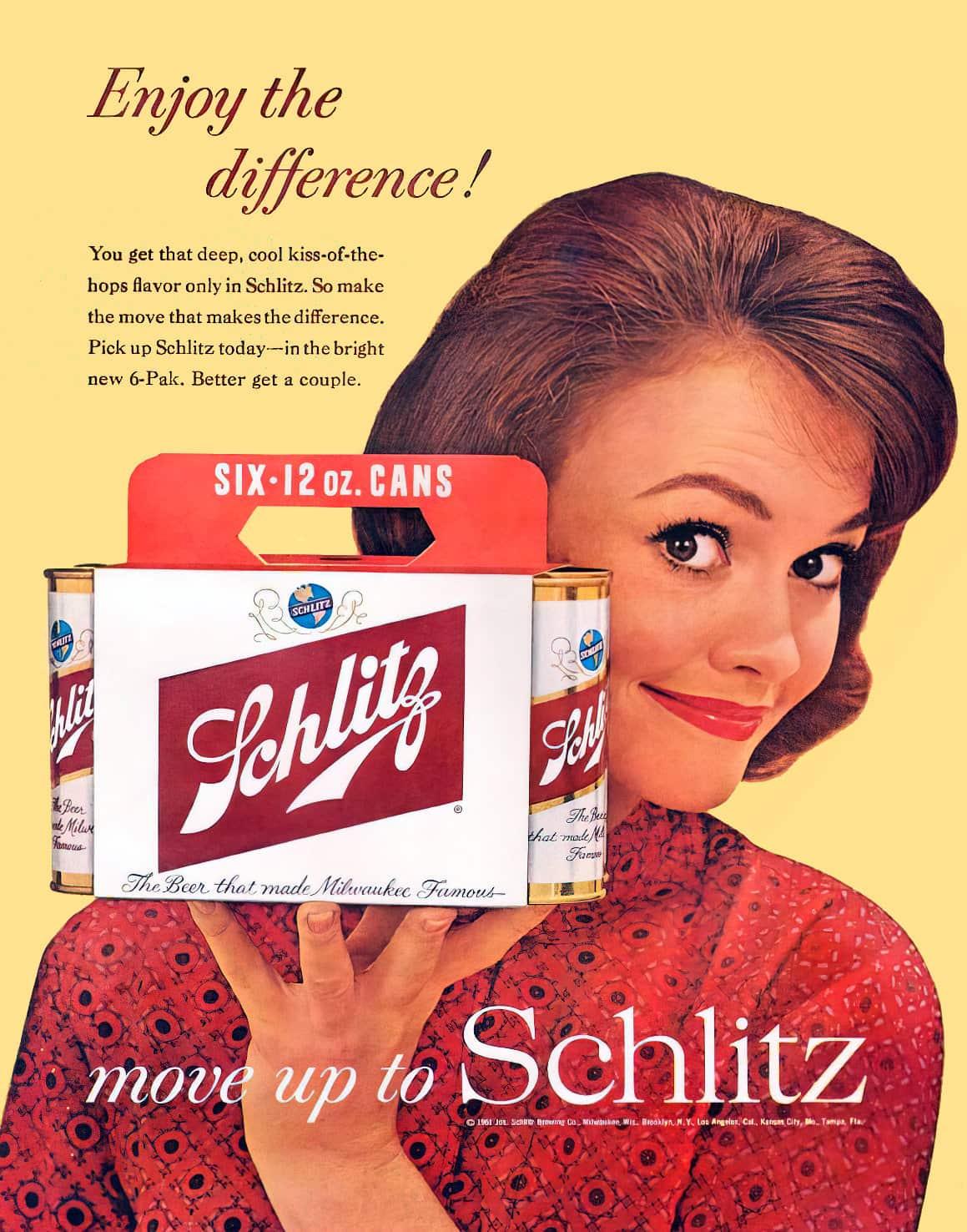 Vintage Schlitz 6-pack (1961)
