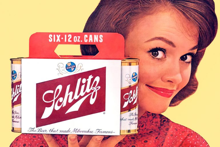 Vintage Schlitz beer and brewery history
