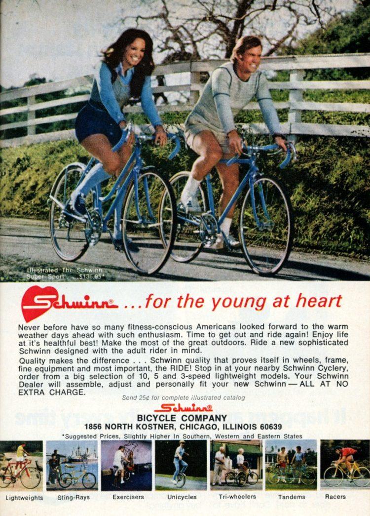 Vintage Schwinn 10 speed bikes from 1973