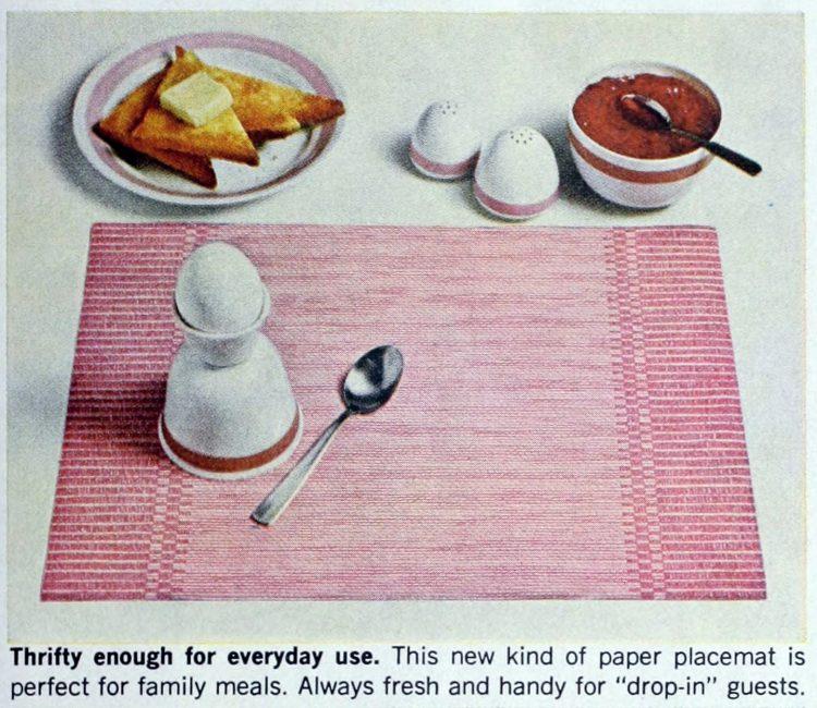 Vintage Scott family paper placemats 1964 (5)