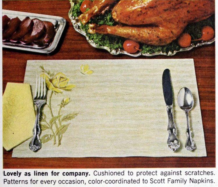 Vintage Scott family paper placemats 1964 (7)