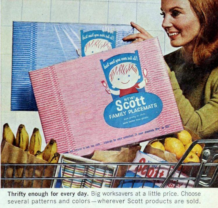 Vintage Scott family paper placemats 1965 (1)