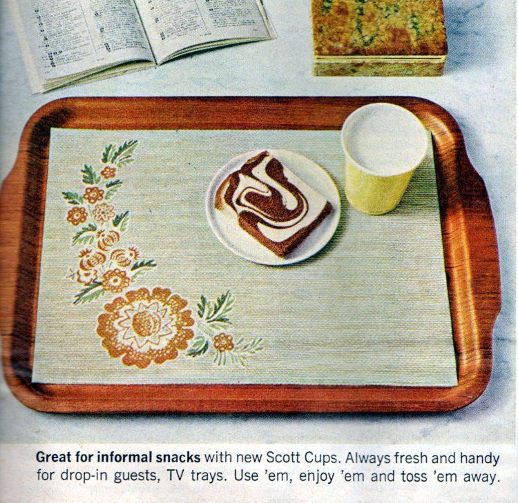 Vintage Scott family paper placemats 1968 (3)