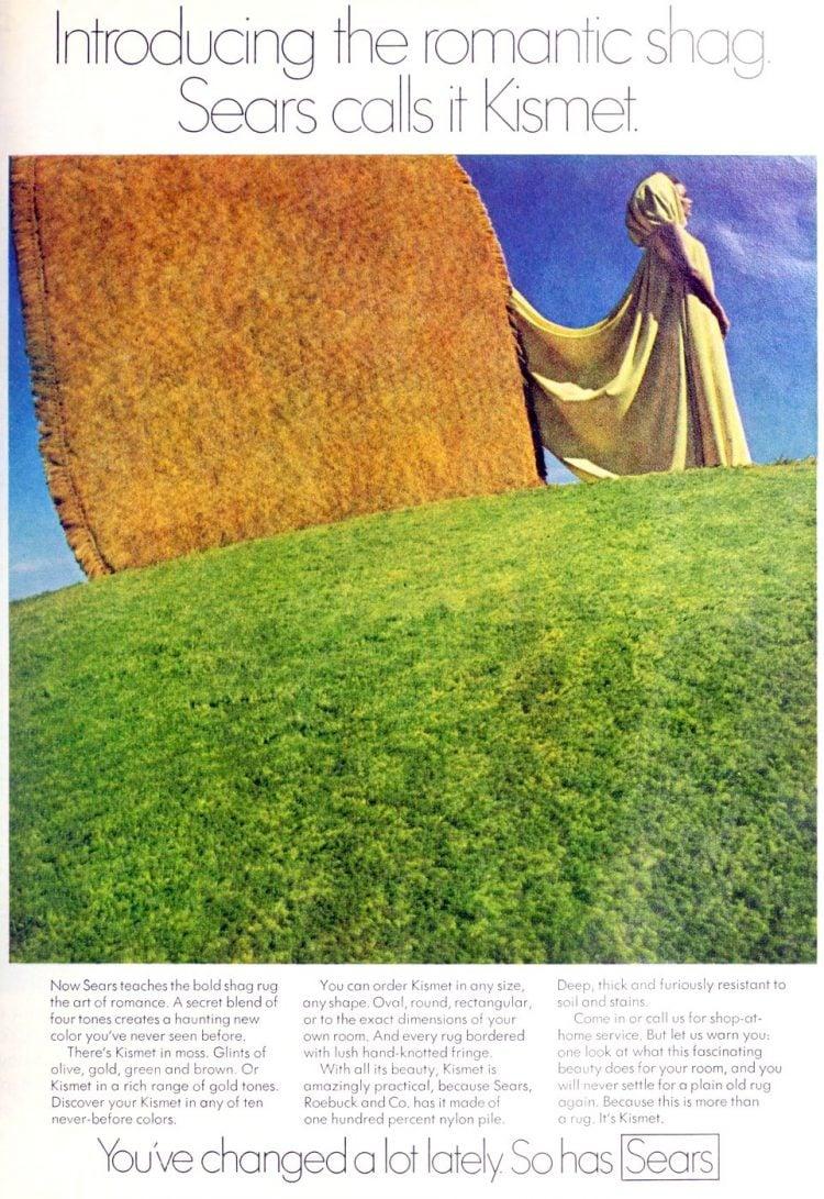 Vintage Sears Kismet shag carpeting 1970