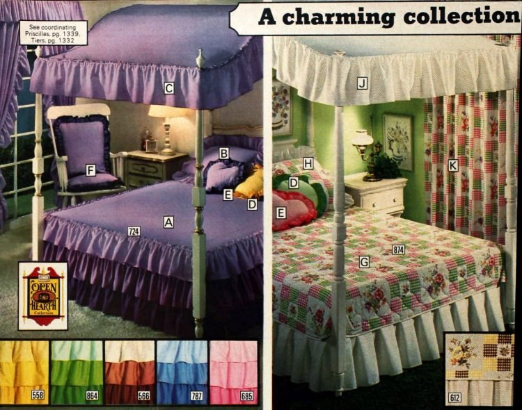Vintage Sears canopy beds from 1977 (2)