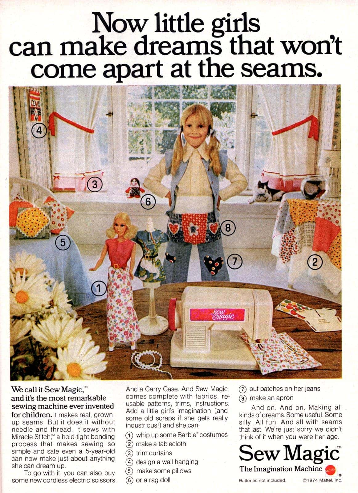 Vintage Sew Magic sewing machines for kids