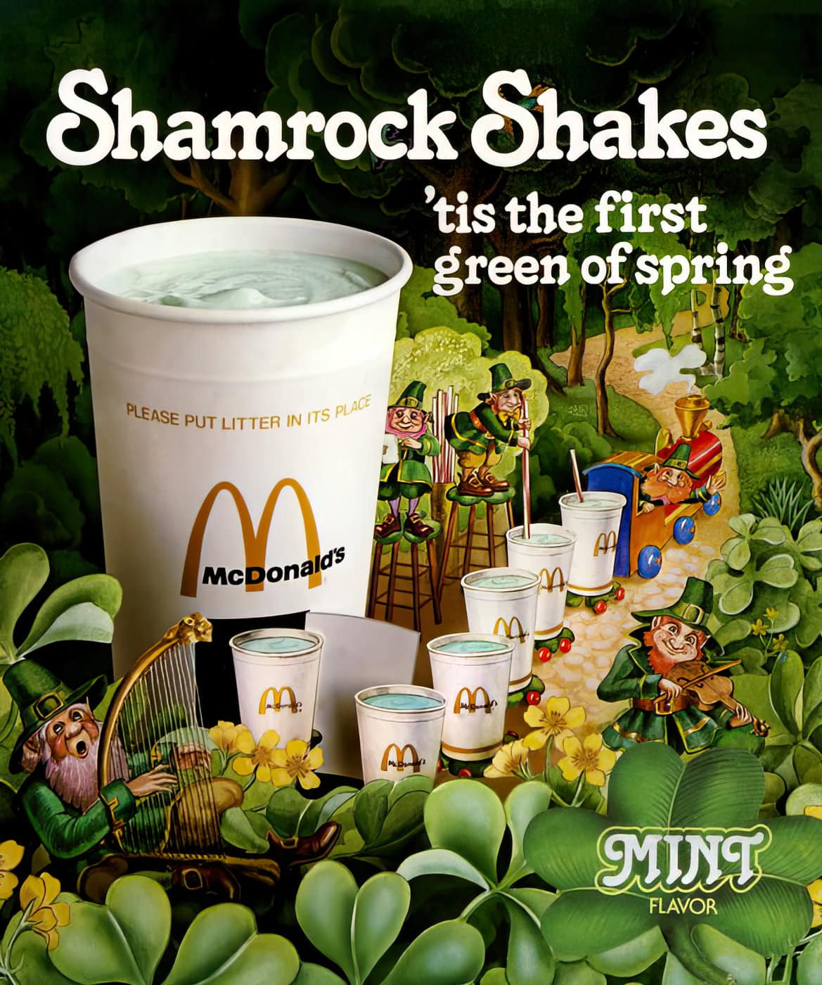 Vintage Shamrock Shakes at McDonalds (1979)