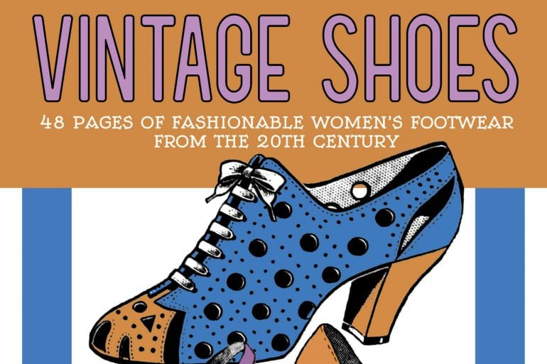 Vintage Shoes coloring book Fashionable Women's Footwear from the 20th Century