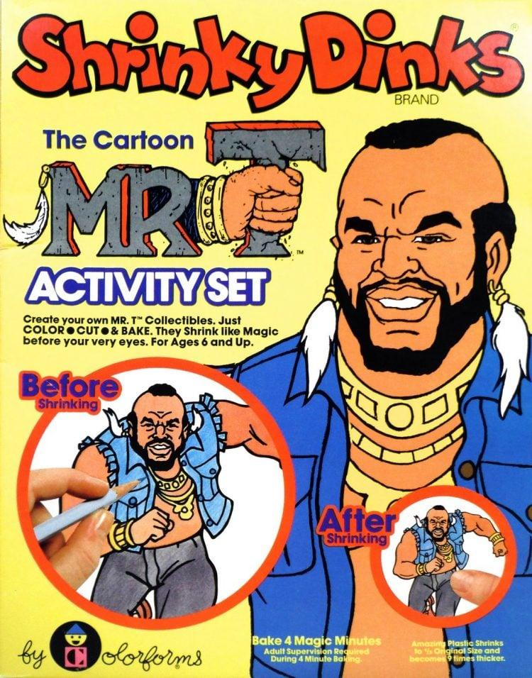 Vintage Shrinky Dinks - Mr T 1983