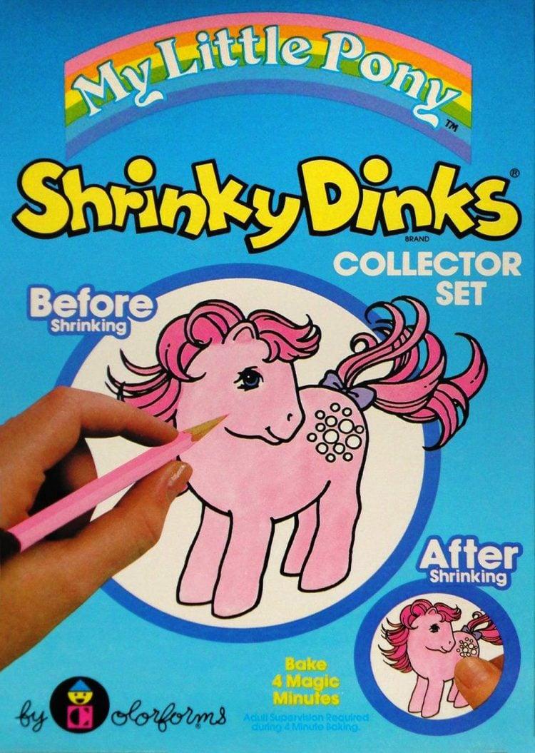 Vintage Shrinky Dinks - My Little Pony 1983